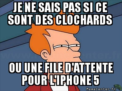 Clochards en ligne ?