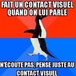 Contact visuel