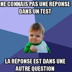 Question dans un test