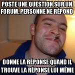 Question sur un forum