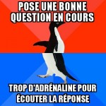 Poser une question en classe
