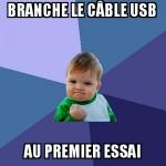 Branchement USB