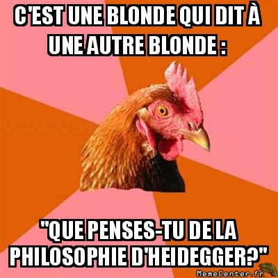 Blonde intelligente