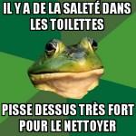 Saleté de toilette