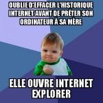 L'historique internet