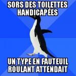 Toilettes handicapées