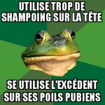 Trop de shampoing