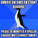 SMS bourré