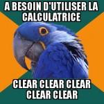 Utilisation de calculatrice