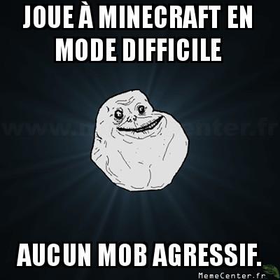 Alone In Minecraft