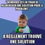 Windows corrige un problème