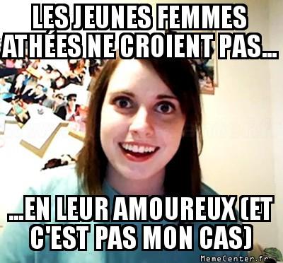 Les jeune femmes athées
