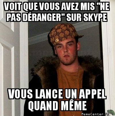 Sur skype ...